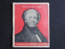 1935 R114 MARTIN VAN BUREN American Heroes United States Caramel Card VG-EX