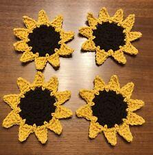 Sunflower Coasters Set Of 4 Newly Crocheted