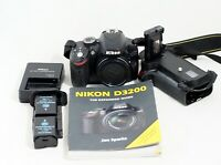Nikon D D3200 24.2MP Digital SLR Camera Black Body ONLY 20K SHUTTER COUNT