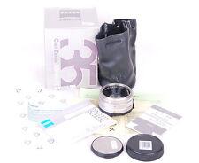 Mint Contax Zeiss Planar T* G 35mm f/2 Lens silver w/box