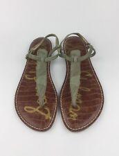 31d625a6d27a42 Sam Edelman Gigi Womens Green Camouflage Ankle Strap T-Strap Sandals US 9  EU 40