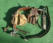 Wm Bashlin Co Linemans Climbing Belt Size D24 Code V 1511 N With Tool Pouch