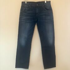Citizens of Humanity Women Size 27 Dylan Drop Rise Cropped Jeans Dark Wash Denim