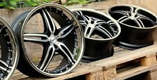 MOTEC Alu Felgen NEU 10x22 Zoll ET35 5x120 BMW X5 E53 E70 MATT BLACK TIEFBETT◄