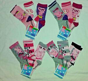 BNWT 3prs Peppa pig socks.UK sizes 9-11.5 or 12-1.5