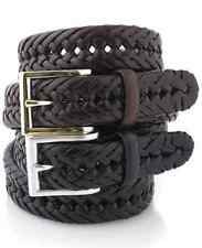 $84 Club Room Men'S Brown Braided Faux Leather Casual Dress Buckle Belt Size 38
