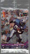 1992 Wild Card NFL Promo Pack Barry Sanders Frt Sealed! P-15 Warren Moon Back
