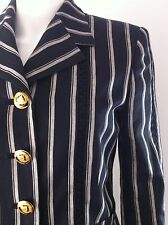 Gorgeous Versace stripe white black jacket skirt suit