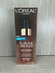 Brand NEW Loreal Sublime Bronze Fragrance Free Self-Tanning Facial Drops 2023