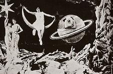 """""""LE VOYAGE DANS LA LUNE (Georges MELIES 1902)"""" Diapositive de presse originale"""