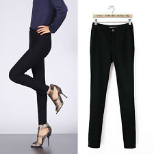 WOMEN HIGH WAISTED LADIES SKINNY SLIM WHITE ANKLE JEANS JEGGINGS PANTS UK 6 - 14