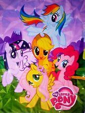 MY Little Pony Northwest Fleece Blanket 2014 Hasbro BIG 40x55 Soft Throw Girls E