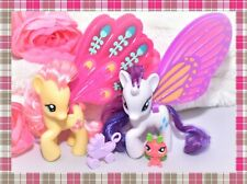 ❤️My Little Pony Brushable Pony Wedding Glimmer Wings Fluttershy Rarity Lot❤️