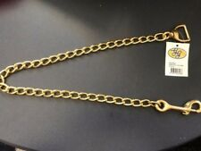 Lead Chain Solid BRASS 60cm with Snaphook Horse dog cow nose chin chain