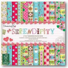 Dovecraft 6 x 6 Serendipity Designer Scrapbook Paper FULL Pack 72 Sheets UK ONLY