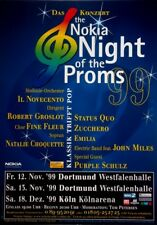NIGHT OF THE PROMS - 1999 - Tourplakat - Status Quo - Zucchero - Miles - Poster