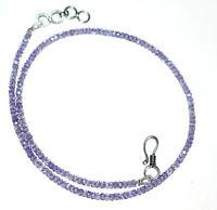 """Neckalce Zircon Rondelle Faceted Tanzanite Gemstone 3 mm Beads 12 To 42"""" Strand"""
