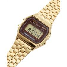 Casio Digital Retrô Unisex Quartz Gold Tone Aço Inoxidável Relógio a159wgea-5