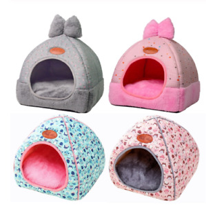 Small Pet Dog House Kennel Bed Mat Cat Blanket Pets Tent Unfolding To Be Thicken