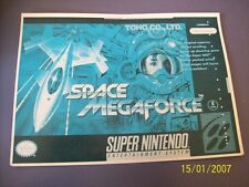 Space Megaforce SNES 16 Bit Super Nintendo Vidpro Card