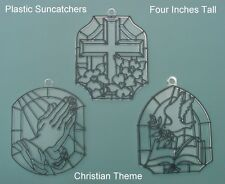 Plastic Suncatchers - Christian Theme