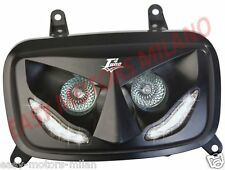 Maschera mascherina faro Gruppo ottico Nero a led Mbk Booster Yamaha Bw's 50 04>