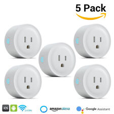 5x Smart Wi-Fi Mini Outlet Plug Switch Works with Google Home Alexa Echo