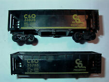 American Flyer/Gilbert HO C&O Auto Unloading-Hoppers (Pair) Parts/Restore L@@K !