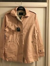 BURBERRY LIGHT PINK COAT UNLINED SIZE XL WITH DEFECTS