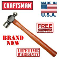 New MADE IN USA Craftsman 32oz BALL PEIN HAMMER Hickory Handle Drop Forged Peen