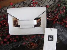 100% pelle crema / taupe pochette borsa a tracolla TRACOLLA BORSA SCATOLA BNWT