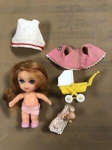 Liddle Kiddle Vintage 1966 #3507 Florence Niddle Nurse Doll Set