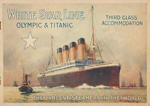 Olympic & Titanic Replica Advertising Booklet (mp)