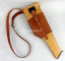 WWII GERMAN MAUSER BROOMHANDLE LEATHER HOLSTER AND STOCK -5454