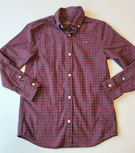 Boys Vineyard Vines Flannel Button Down Shirt size Small 8-10 red plaid