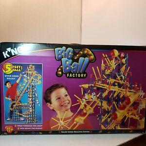 K'nex Big Ball Factory w / Original Box 1995 Knex 63045 3000 pc Vintage