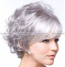 Hot Style Fashion Short Wig Women's Charm Silver Gray Full Wig/Wigs US