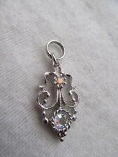"Nwot St.John Knit Silver, Multicolor Crystal, Zipper Pull 1 1/16"""