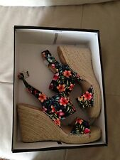 Dolce Vita New In Box Wedge Tropical Floral Canvas Ladies 8.5