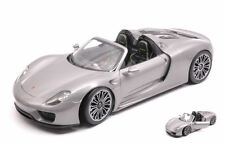 Porsche 918 Spyder Silver 1:18 Model 18051CS WELLY