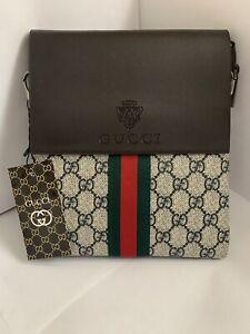 Gucci bag GG Brown small messenger bag Cross  body