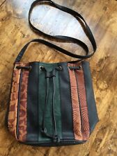 womens handbags and purses/multi Toned Embossed Leather Cross Body Bag