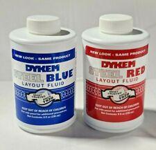 Dykem Layout Fluid 1 Red Amp 1 Blue 8 Floz Brush In Cap