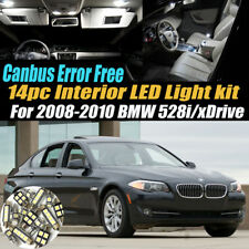 14Pc Error Free Interior LED White Light Kit for 2008-2010 BMW 528i/xDrive