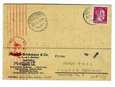 Croatia 1944 Firm Card from Nazi Germany to NDH Croatia