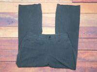 "Eddie Bauer Women's Blakely Fit Grey Striped Dress Pants Size 14 32"" W x 32"" L"