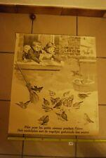AF1 Ancienne affiche - Protection des animaux - Pitié pour les petits oiseaux
