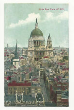 London - Birds Eye View of City - 1900's Postcard