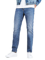 JACK & JONES Jeans Mens Mike Comfort Fit Narrow Leg Denim Pants Light Blue