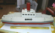 """Large Old Vintage Wooden Painted Brio Sweden Ferry Boat Ship 18"""" Long"""